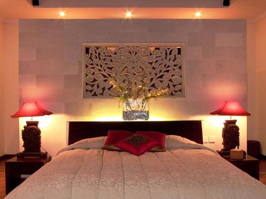 Orientalisk inredning i sovrummet for Bedroom designs in red